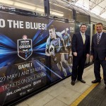 Minister for Trade, Tourism and Major Events Stuart Ayres and Minister for Transport and Infrastructure Andrew Constance today unveiled the new train carriages at Sydney Olympic Park station.