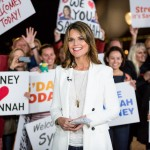 Savannah Guthrie from NBC TODAY Show broadcasting from Sydney Opera House. 4th May 2015, Sydney Australia. (credit Destination NSW / Daniel Boud)