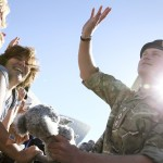 Prince Harry greets the crowd at Sydney Opera House