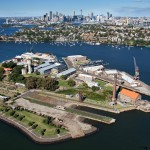 Aerial view of Cockatoo Island on Sydney Harbour credit Ethan Rohloff Destination NSW