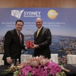 NSW Minister for Trade, Tourism and Major Events Stuart Ayres and Scoot Chief Executive Officer Campbell Wilson