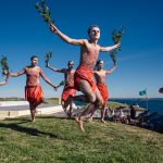 Aboriginal cultural dance and music performance at Blak Markets, Bare Island, La Perouse. CREDIT Destination NSW.