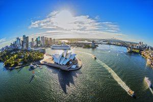 Sydney Harbour Aerial, Sydney, Hamilton Lund; Destination NSW