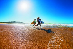 Surfing at Palm Beach NSW