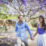 Jacarandas in bloom outside Victoria Barracks, Paddington Sydney. CREDIT Destination NSW.