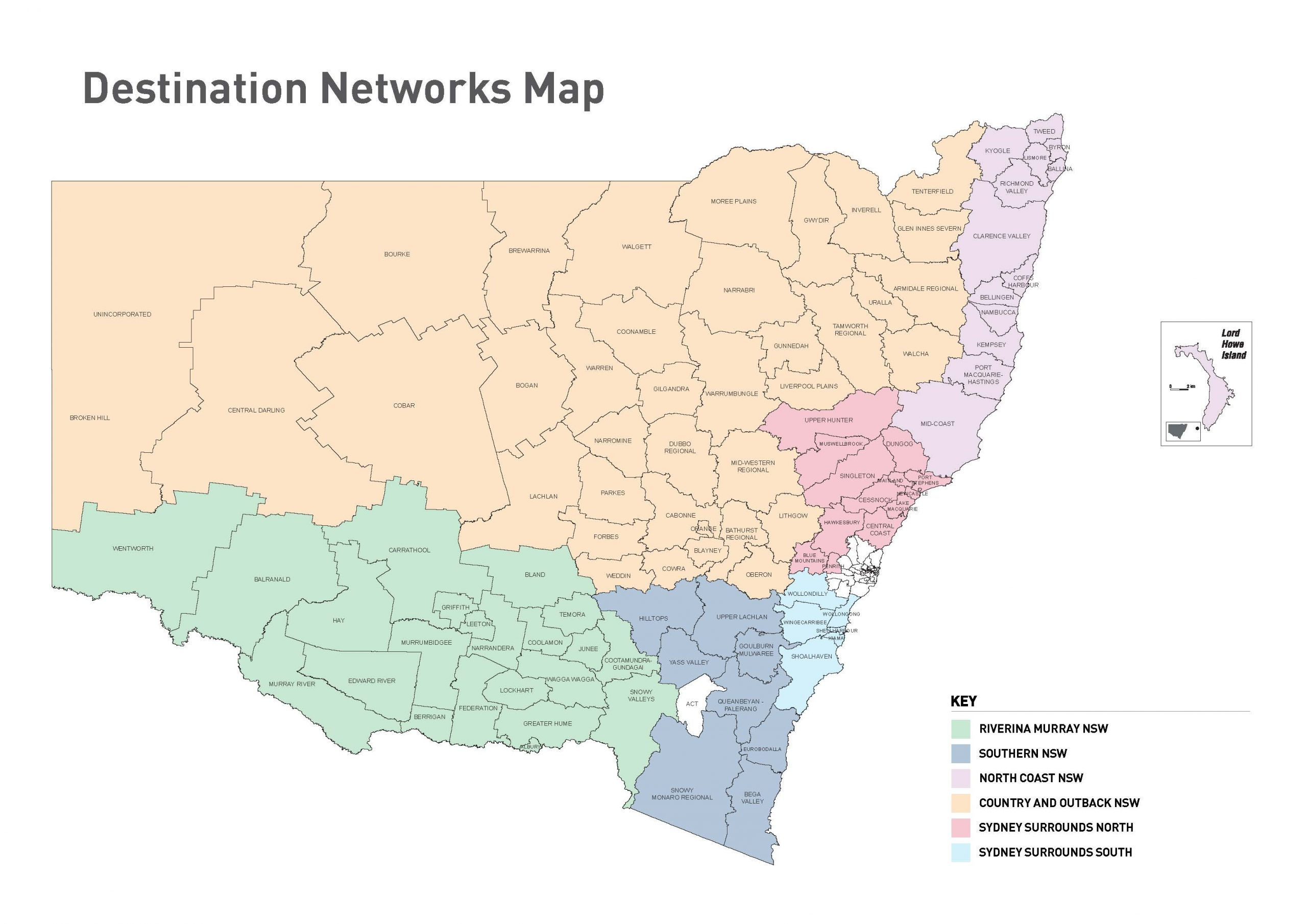 Destination Networks Map
