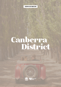 Wine Region Destination Fact Sheet - Canberra