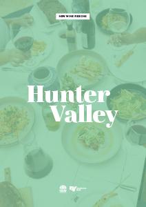 Wine Region Destination Fact Sheet - Hunter Valley